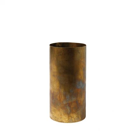 Mc Project Store H.skjalm Vase Cylindre Raw Brass 16cm 1